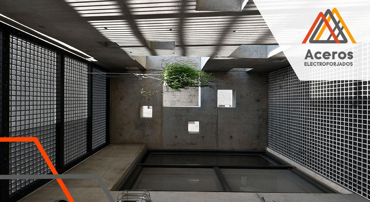 Aplicaciones arquitectónicas de la rejilla electroforjada