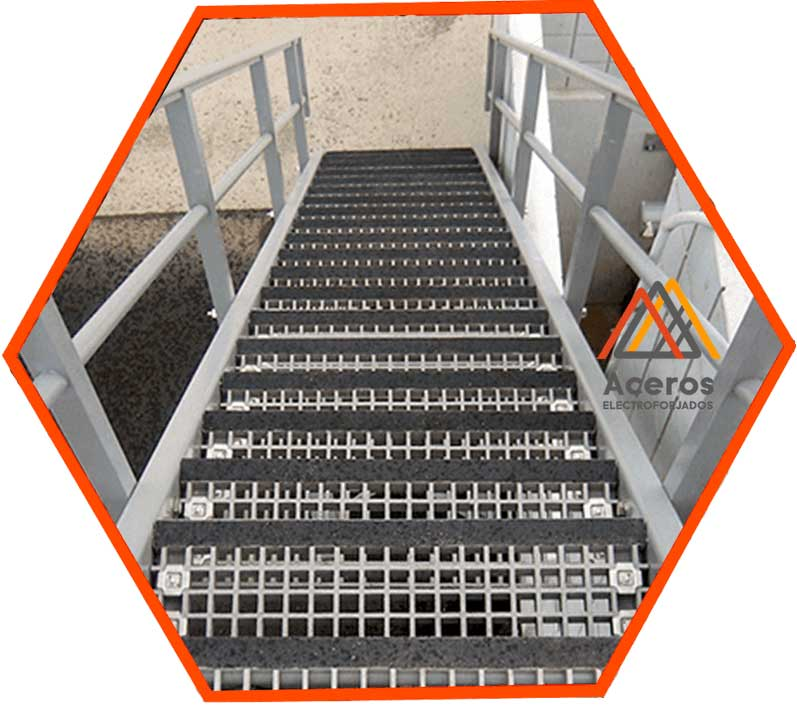 Venta de escalones de acero electroforjado