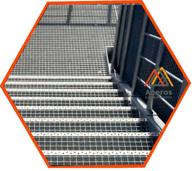 Escaleras de rejilla industrial